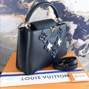 In Stores Louis Vuitton Capucines PM Flowers Tote